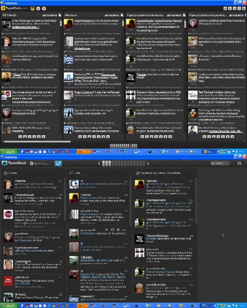 Tweetdeck 0.x (above) and 1.0 (below)